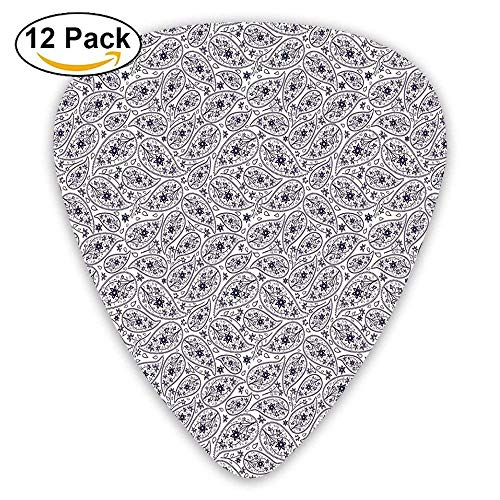 Premier Combo Pack (Oriental Pattern With Star Shaped Flowers Leaves And Ivy Artwork Guitar Picks 12/Pack,0.46/0.73/0.96 Mm Guitar)
