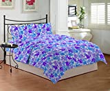 Bombay Dyeing Mistyrose 120 TC Polycotton Double Bedsheet with 2 Pillow Covers - Blue
