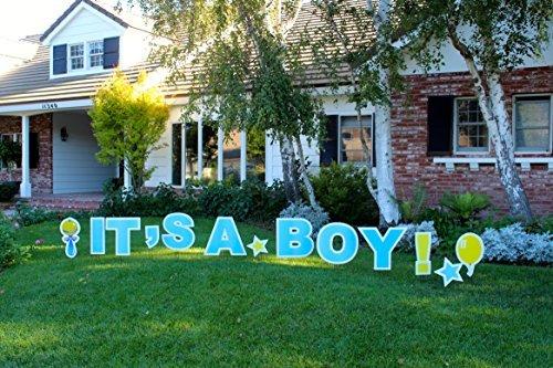 It 's a Boy. Outdoor Ankündigung Dekoration Karte, Yard Sign Kommt 55,9cm Hohe mit Einsatz