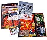 SCHNEIDMEISTER Perfekte Airbrush Schablonen Skulls leicht gemacht: FIRESTACK (Field of Skulls Vol. 02), Single-/Quickstep EZ SkullMaker ArtShield