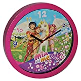Wanduhr Mia and Me - 30,5 cm groß Uhr - Kinderzimmer Einhorn Kinderuhr - analog Feen Pferde Yuko Mo Omchao Mädchen