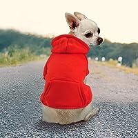 Idepet Haustier Kleidung Hundepullover Hunde Kleider welpen Pullover Hunde Warmer Mantel für Katzen Kleine Hunde…