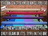 Slim-Gym – Professioneller Gymnastik-Schwebebalken, 2,4 m (45,7 cm hoch), Dunkelblau, Wildlederimitat, beste Qualität, dunkelblau