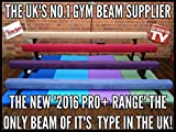 8ft (45,7cm High) Professionelle Gymnastik Balance Beam von slim-gym–Dunkelblau Velourslederimitat, dunkelblau