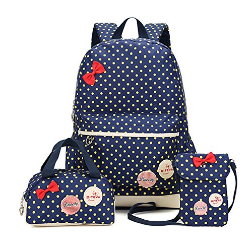 Bcony Lot de 3 mignon Dot sacs à dos Cartables...