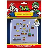 Super Mario MS65081 Kit de 23 Magnets (Royaume Champignon), Multicolore, 18 x 24 x 0, 3 cm