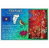 Vermont State Fakten-Postkarten-Set von 20identische Postkarten. Post Karten mit VT Fakten und State Symbole. Hergestellt in den USA.