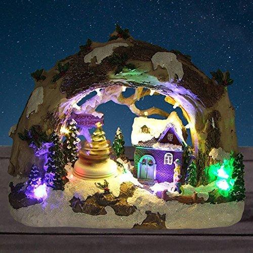 Buri LED-Winterlandschaft Merry Christmas Weihnachts-Tischdeko Beleuchtung Landschaft