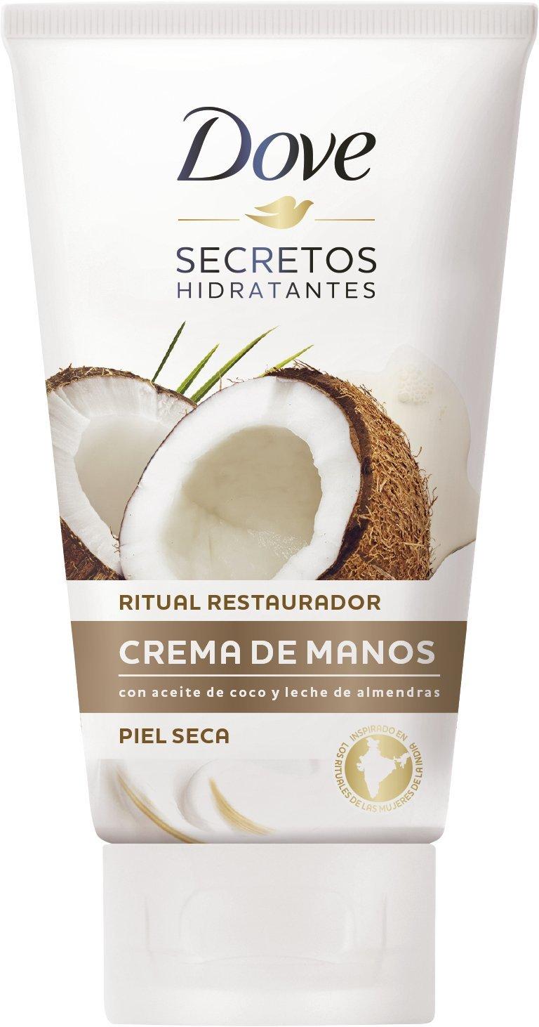 Dove Aceite de Coco y Leche de Almendras Crema de Manos, paquete de 6 (75 ml x 6)