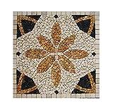 RO-005 90 x 90 cm Marmor Rosone mediterran Einleger Mosaikfliesen Bild Dekoration Stein-Mosaik Fliesen Lager Verkauf Herne NRW