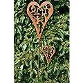 Gartenstab Gartenstecker Herz Rost 100cm von Sunflower-Design bei Du und dein Garten