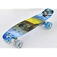 IRIS Complete Cruiser Skateboard with Colourful Light Up Wheels for Boys and Girls with Super Smooth Pu Wheels, High…