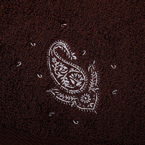 - Hotel-stil Handtuch (MangeooHotel Badetuch aus reiner Baumwolle nach Verdickung Damen Wasseraufnahme Handtuch, Kaffee Stil europäischen Roll grass pattern, 160 x 80 cm)
