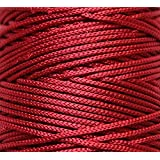 Jo's Deep Ruby Wine Colored Nylon (Limited Edition) 1mm Macrame Cord (125 Meters) 4 Ply Nylon Chinese Knotting Poly Propylene Cord (Approx - 85 Grams)