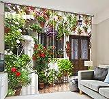 H&M Gardinen Vorhang Töpfe Wandkunst warmes UVfarbton Tuch dekoriert Schlafzimmerfenster Vorhangstoff fertigen 3D-Druck , wide 2.03x high 1.6