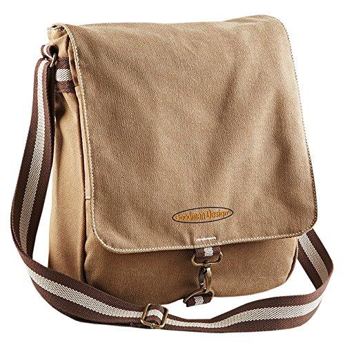 Coole Umhängetasche Reisetasche Freizeittasche Vintage Tasche Schultertasche Reportertasche mit Goodman Design