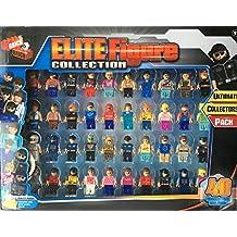 Elite Figure - Pack de 40 figuras de colección compatible con Lego.