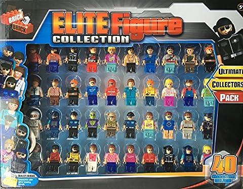Elite Figure Ultimate Collectors Lot 40personnagescompatibles avec Lego