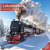 Lokomotiven 2019, Wandkalender / Broschürenkalender im Hochformat (aufgeklappt 30x60 cm) - Geschenk-Kalender mit Monatskalendarium zum Eintragen