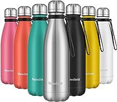 Newdora Bottiglia Acqua in Acciaio Inox 500ml, Senza BPA, Borraccia Termica Isolamento Sottovuoto a Doppia Parete, per...