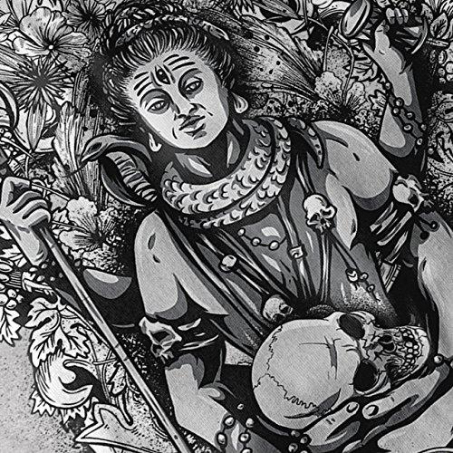 Buddha Böse Fluch Gott Von Tod Damen Schwarz S-2XL Muskelshirt | Wellcoda Grau