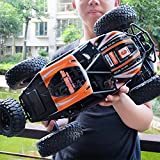 Icw Metal 2.4G 4WD Racing RC 2837 Car High Speed BigFoot Off-Road Waterproof Truck With Light Toys,Very Big Size 1/10 Scale,(scarf029, Multicolour)