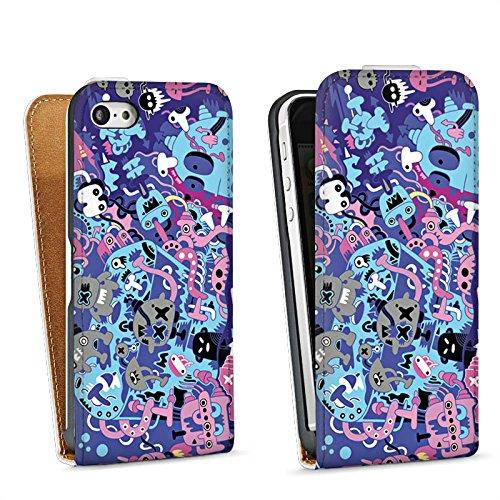 Apple iPhone 6 Housse Étui Silicone Coque Protection Bande dessinée Motif Motif Sac Downflip blanc