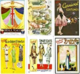 Vintage Fashion Postcards- set of 6