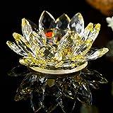 Hniunew Tischdeko Kerzen Kerzenhalter Lotus Kerzenhalter KerzenstäNder Kristall Lotus Kerze Candlestick 7 Farben Glas Lotus Stand Teelampenhalter Buddhistischer Kerzenhalter