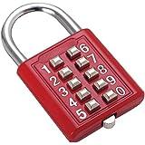 Sleutelcombinatie veiligheidsslot digitaal slot box bagage lade deur DIY Toolbox 10-bits hangslot, 5 versnellingen vergrendel