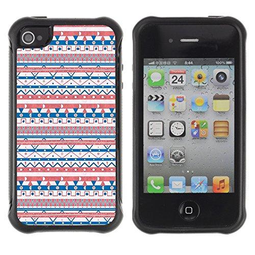 Graphic4You BLUE GRADIENT GRID Muster Harte Hülle Case Tasche Schutzhülle für APPLE IPHONE 4 und 4S Design #9