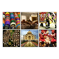 India Coasters - Sunboard (Set of 6)