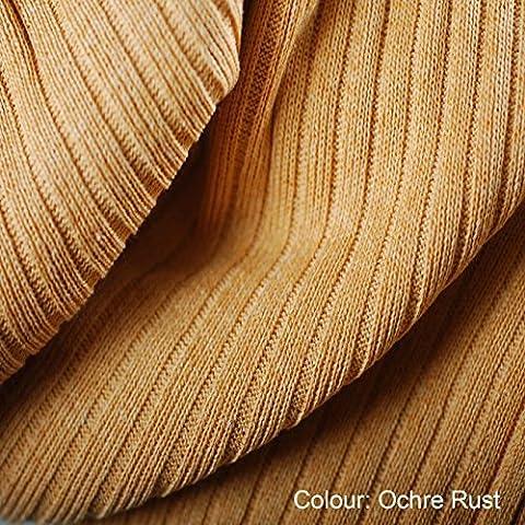 Jersey Tricoté,Tissu Côté Neotrims Ottoman en 24 Couleurs. Tissu Elastique Côte Tricotée Matériel Faire Robe,Décorations Maison et Artisanat. Matière Fabuleuse Garniture dans Ombres Impressionnantes