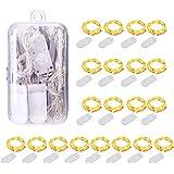 Guirlande Lumineuse à Pile, 20 Pack 1M 10 LED Mini Guirlande LED Fil de Cuivre Fairy Lights Girlande Lumière pour Décoration