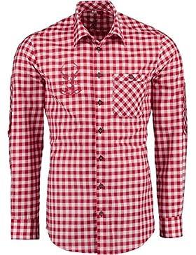 Spieth & Wensky Trachtenhemd Rot Kariert Slim Fit Finley