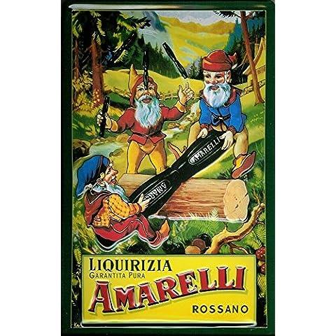 Liquirizia–Targa in latta Amarelli Liqurizia–20x 30cm Nostalgia Retro scudo Metal tin sign