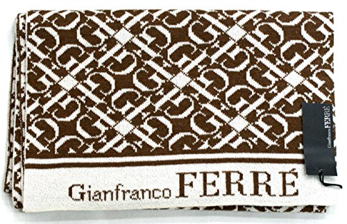 gianfranco-ferre-scarf-unisex-logoed-made-in-italy-cm-160x30-beige