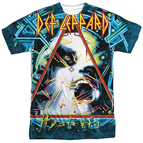 Def Leppard Hysteria T-Shirt für Erwachsene, zweiseitiger Sportstoff - Weiß - XXX-Large