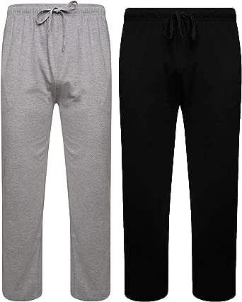 Sock Stack Mens Lounge Bottoms Pyjama Pants Jersey PJ Bottom for Men 100% Cotton Pajama Trousers Pack of 2