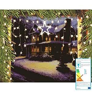 Guirlande lumineuse à lED en forme d'étoiles fenêtre 126 x 90 cm