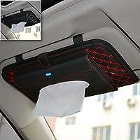 NIKAVI Double-Deck Auto Car Visor CD/DVD Bag Storage Holder/Tissue Paper Holder (RED LINE)