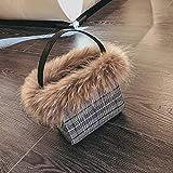 WXIN Fox Fell Wolle Tasche?,Schwarz