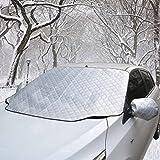 Scheibenabdeckung Auto Scheibenschutz Winter Frostabdeckung Autoscheibenabdeckung WinterabdeckungEisschutz Schneeschutz Magnet-Fixierung mit Mit Rückspiegel Abdeckungen(120*140cm)