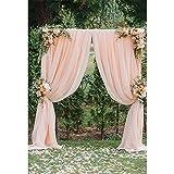 Campagna Style wedding sfondo per fotografia stampato blush tenda ad arco porta petali di fiori festa a tema photo booth Backdrop 2,4x 3,7m