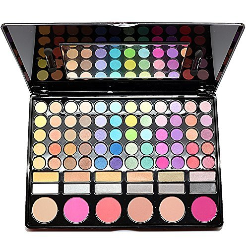 Spritech(TM) Fashion 78 Colors Waterproof Professional Makeup Eye Shadow Eyeliner Blush Makeup Combination Pallet by Spritech (Mac Translucent Powder)