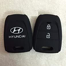 Delhi Traderss Silicone Key Cover For Hyundai Grand I10 2 Button Remote Key
