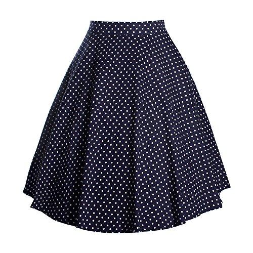 VKStar® A-Linie Vintage 1950s Sommer Damen Mehrfarbig Blumen Stoffdruck  Kleid Audrey Hepburn Style