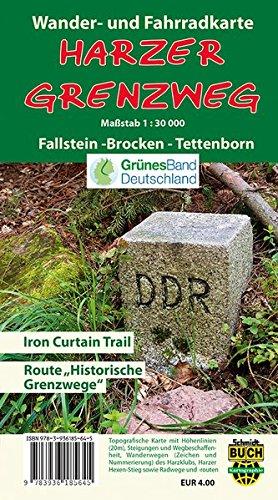 Preisvergleich Produktbild Harzer Grenzweg: Wander- und Fahrradkarte Fallstein - Brocken - Tettenborn