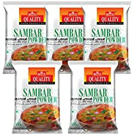 Quality Spices Sambar Powder Masala 100 Grams (Pack of 5)