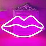 """Verbesserte LED Neon""""Lippen"""" Wandschilder Led Neonlicht Kunst Dekorative Lichter Wanddekor für Kinder Baby Zimmer Weihnachten"""